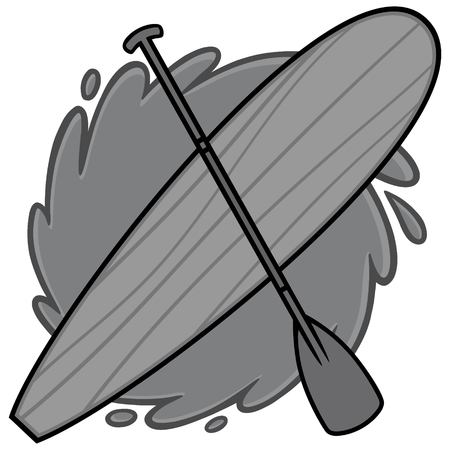 Paddle Board Illustration vector cartoon illustration of a Paddle Board concept.