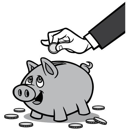 Piggy Bank Illustratie Stock Illustratie