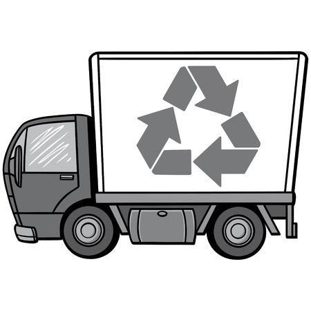 Recycle Truck Illustration Stockfoto - 97048696