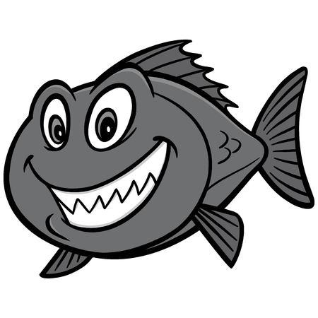 Ilustración de peces de pargo rojo Foto de archivo - 97048695