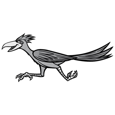 Road Runner Illustration - A vector cartoon illustration of a Road Runner mascot.