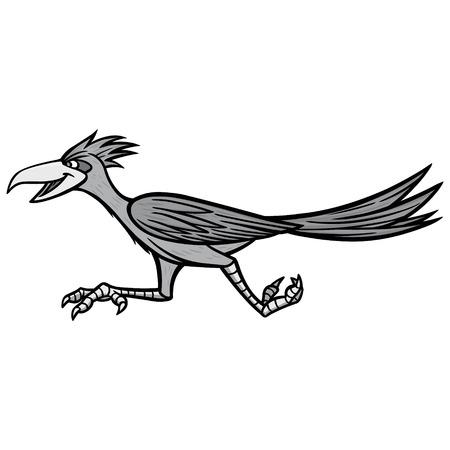 Road Runner Illustration - A vector cartoon illustration of a Road Runner mascot.