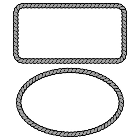 Rope Border Illustration - A vector cartoon illustration of a couple of Rope Border concepts.