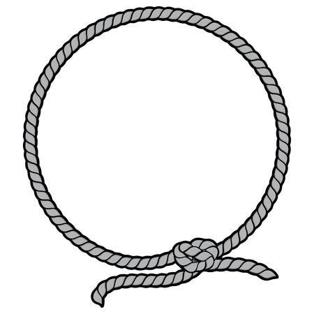 Rope Border Lasso Illustration  イラスト・ベクター素材