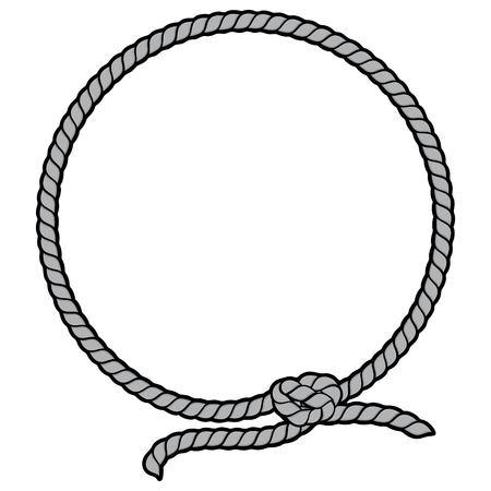Rope Border Lasso Illustration Stock Illustratie