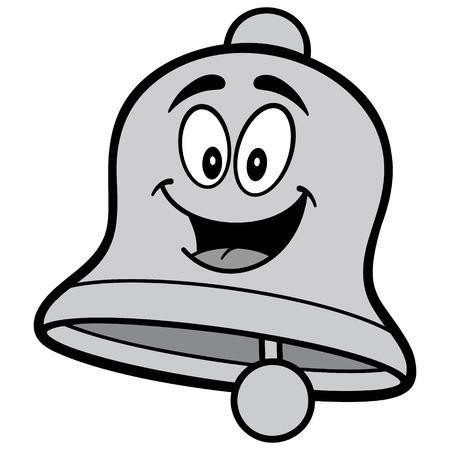 School Bell Cartoon Illustration - A vector cartoon illustration of a School Bell mascot concept. Ilustração