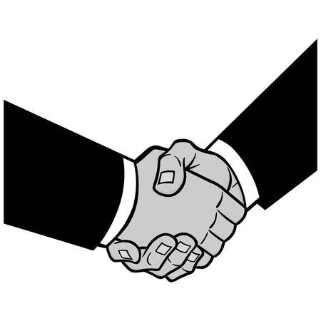 ilustración de la oferta sellada - una ilustración vectorial de dibujos animados de un concepto de acuerdo rentable .
