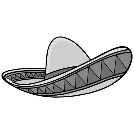 Sombrero Illustration - A vector cartoon illustration of a Mexican Sombrero.
