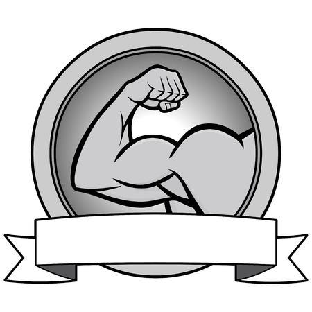Strongman Contest Banner Illustration - A vector cartoon illustration of a Strongman Contest Banner. Illusztráció