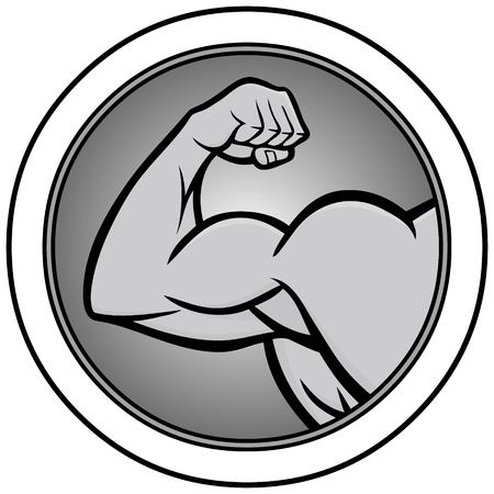 Strongman Icon Illustration - A vector cartoon illustration of a Strongman Icon concept.