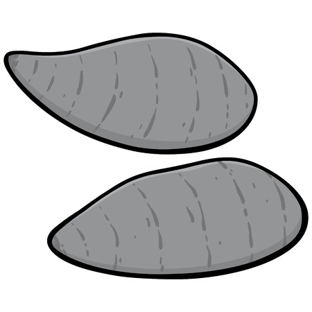 Sweet Potatoes Illustration - A vector cartoon illustration of a couple of Sweet Potatoes. Stockfoto - 97051380