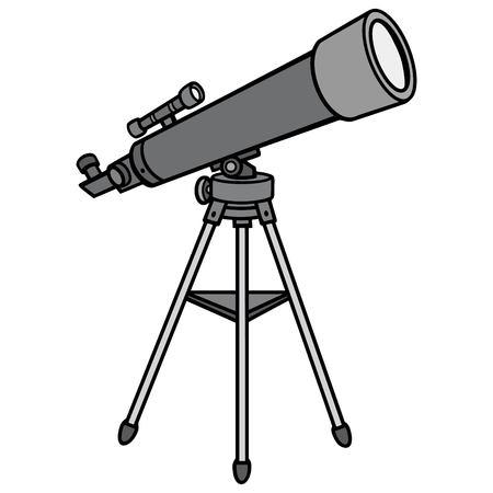 Telescope Illustration - A vector cartoon illustration of a classroom Telescope.