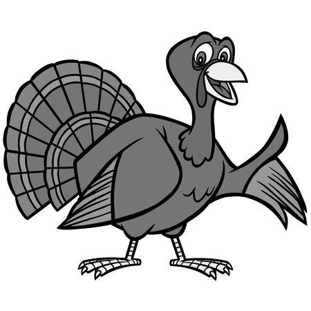 Thanksgiving Turkey Illustration - A vector cartoon illustration of a Thanksgiving Turkey mascot.