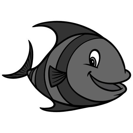 Tropical Fish Cartoon Illustration - A vector cartoon illustration of a Tropical Fish mascot.
