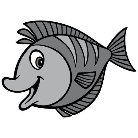 Tropical Fish Illustration - A vector cartoon illustration of a Tropical Fish mascot.