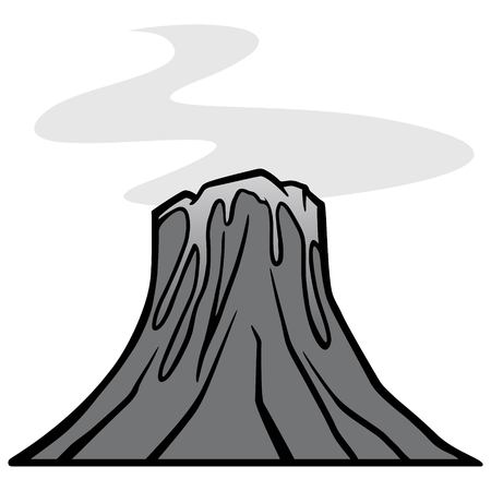 Cartoon volcano image illustration