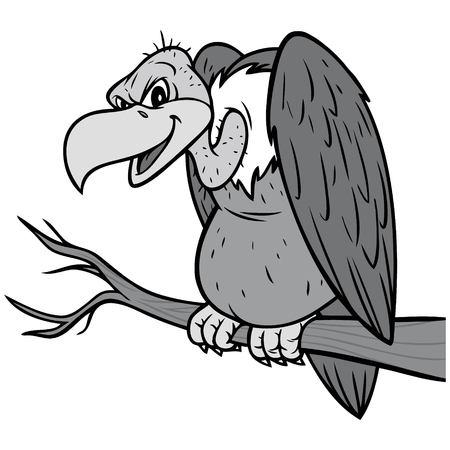 buitre ilustración del diseño de la imagen Ilustración de vector