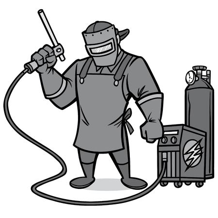 Welder image illustration Vettoriali