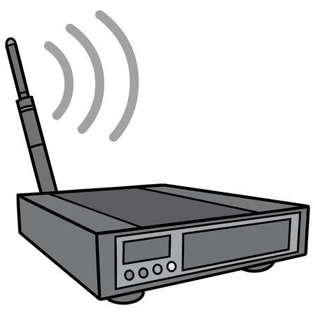 Wireless Router Illustration Stock Illustratie