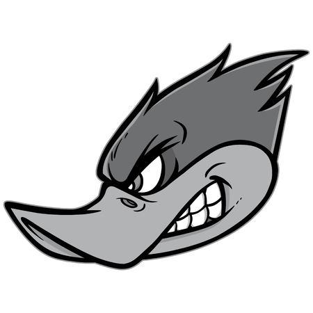 Woodpecker Mascot Illustration - A vector cartoon illustration of a Woodpecker Team Mascot.