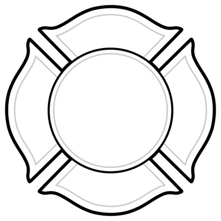 Black And White Firefighter icon