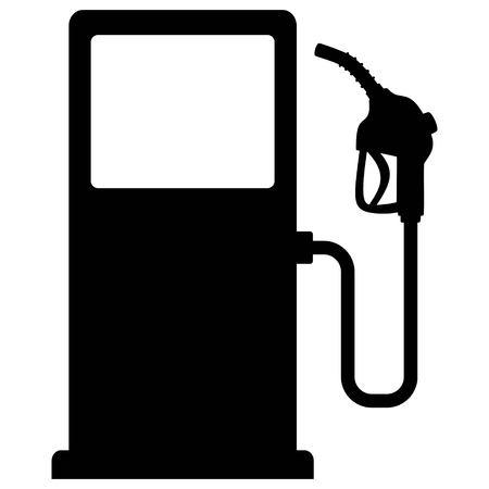 Gas Pump Icon - A vector cartoon illustration of a gas pump concept.