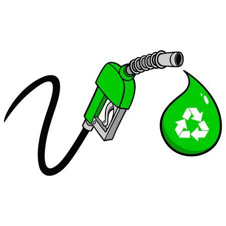 Bio Fuel Pump Price Drop Vector illustration.