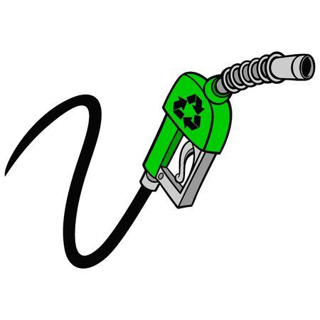 Bio Gas Pump Vector illustration.