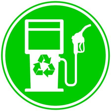 Eco Fuel Pump Icon - A vector cartoon illustration of a bio fuel gas pump concept.