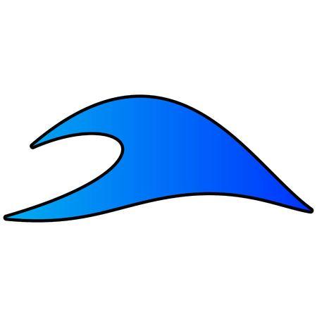 Ocean Wave Icon - A vector cartoon illustration of a Ocean Wave Icon.