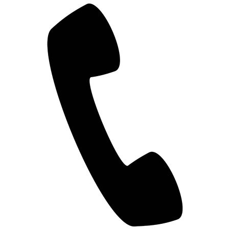 Phone Silhouette - A vector cartoon illustration of a Phone Icon.