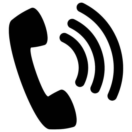 Wifi Phone Silhouette - A vector cartoon illustration of a Phone Icon.