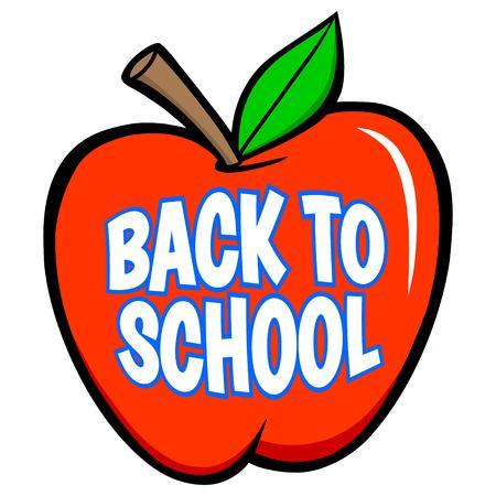Back to School Apple - A vector cartoon illustration of a Back to School Apple concept. 스톡 콘텐츠 - 106698378