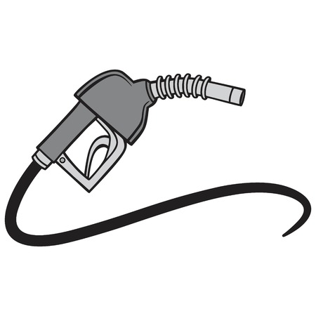 Black and White Fuel Pump - A vector cartoon illustration of a gas pump concept. Ilustracja
