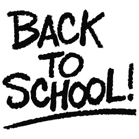 Back to School Text - A vector cartoon illustration of a handwritten Back to School Text concept. Ilustração