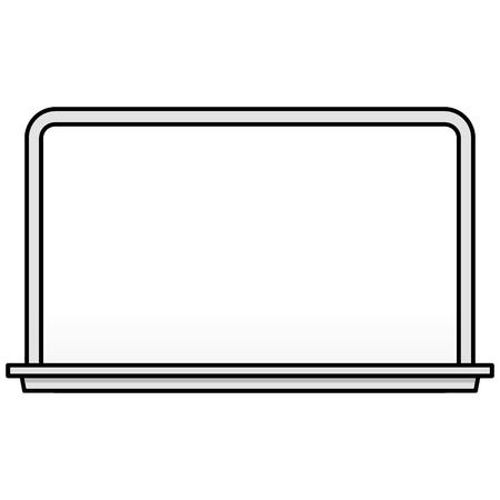 Black and White Whiteboard - A vector cartoon illustration of a school Whiteboard. Çizim
