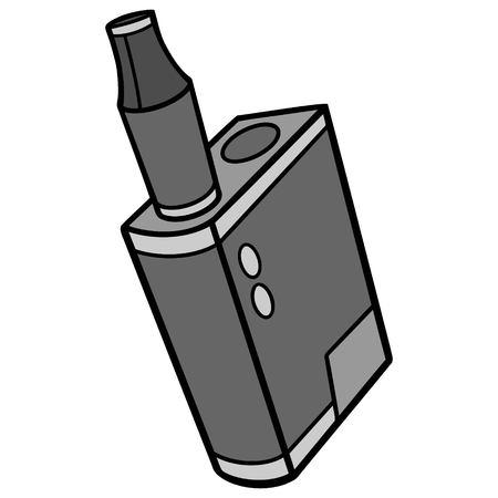 Vape Pen Micro - A vector cartoon illustration of a micro Vape Pen. Imagens - 118556622