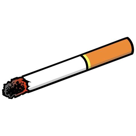 Cigarrillo: una ilustración de dibujos animados de vector de un cigarrillo.