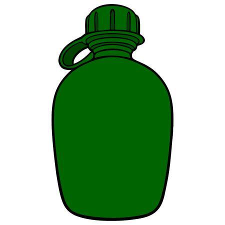Army Canteen - A vector cartoon illustration of a Army Canteen. Stock Illustratie