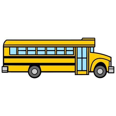 School Bus Passenger Side - A vector cartoon illustration of a School Bus Passenger Side. Illustration
