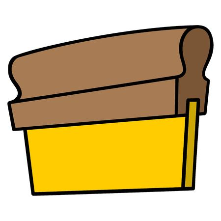 Screen Printing Squeegee - A vector cartoon illustration of a Screen Printing Squeegee. 向量圖像