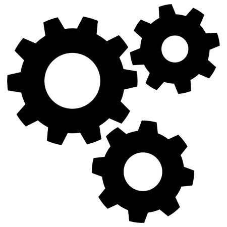Gears - A vector cartoon illustration of a few spinning gears.