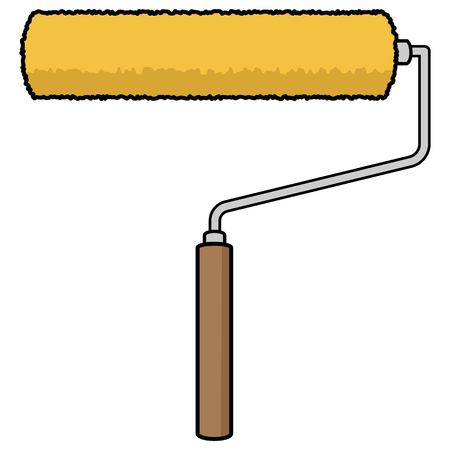 Paint Roller - A vector cartoon illustration of a Paint Roller.