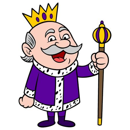 King Happy - A vector cartoon illustration of a happy King mascot.