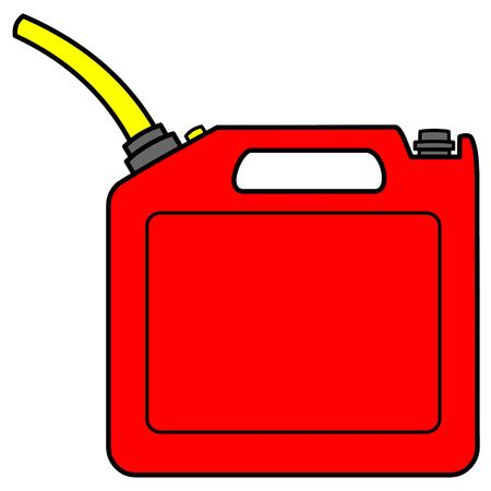 Gasoline Can - A vector cartoon illustration of a full can of Gasoline.
