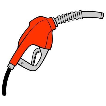 Buse à essence - Une illustration de dessin animé de vecteur d'une buse à essence de station-service.