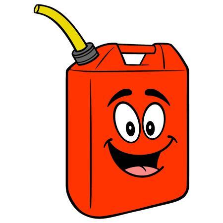 Gasoline Can Mascot - A vector cartoon illustration of a fun Gasoline Can mascot. Иллюстрация