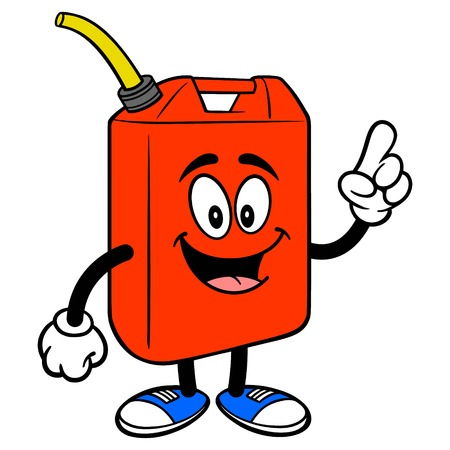 Gasoline Can Pointing - A vector cartoon illustration of a fun Gasoline Can mascot pointing. Ilustrace