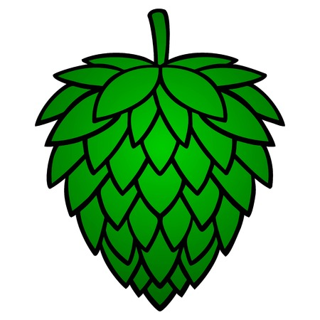 Hop - A vector cartoon illustration of an Oktoberfest Hop cone. Иллюстрация