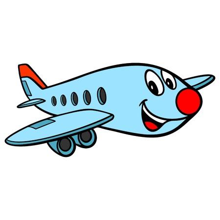 Airplane Cartoon - A vector cartoon illustration of a fun Airplane character.